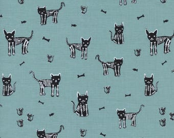 Boo! by Cotton + Steel - My Pet Skeleton - Cotton Woven Fabric