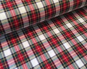 Stewart Tartan Brushed Cotton Fabric, Brushed Cotton,Tartan Fabric,Stewart Tartan - Half Metre