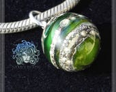 glass dangle, Collection Original Nemo Glass Bead,  SRA 16 x 16 mm Ltd.Edition