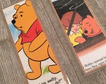 Winnie the Pooh Disney Vintage Bookpage Bookmarks, Walt Disney, Mickey Mouse