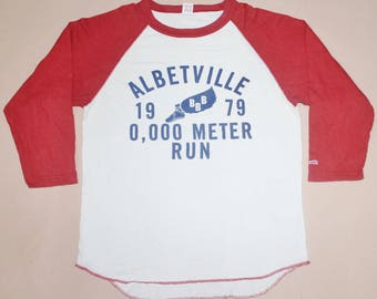 VINTAGE CHESWICK SUGAR cane alberville 1979 run athletic toyo co. t shirt jersey