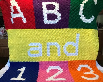 ABC & 123 Child Blanket