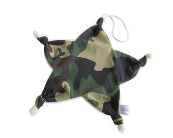 Star blanket pacifier bow shape cotton khaki military camouflage