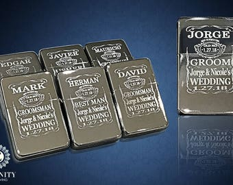9 Personalized lighters - 9 Engraved Groomsmen gifts - Bridesmaid Wedding gifts - 9 Officiant, Usher & Brother in law Wedding gifts