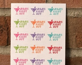 50% OFF SALE Set (15) Moms Night Out Stickers for eclp, happy planner and more