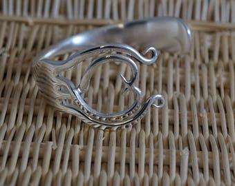 celtic fork bangle, fork jewellery, fork bracelet, cutlery jewellery, fork jewellery, cutlery jewelry, upcycled jewellery, jewellery,fork,
