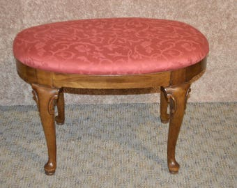Vintage Thomasville Queen Anne Style Oval Bench