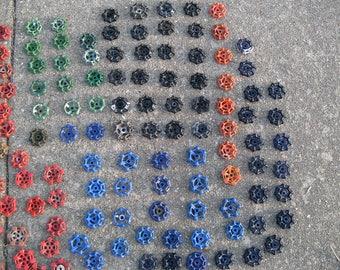 30 VINTAGE metal  iron or aluminum upcylced valve knob handle handles for crafts steampunk industrial art  lot DUTCH --