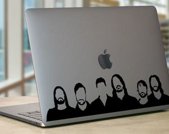 Foo Fighters Inspired Band Silhouette Music MacBook Laptop Decal Sticker Car Yeti Decal Rock and Roll Concrete and Gold Album Waiting List