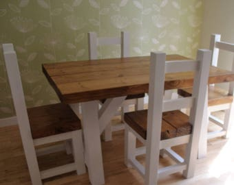 Chunky Rustic trestle table