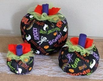Fabric Pumpkins,Halloween Pumpkin,Fall Decor,Halloween Decor,Halloween Decorations,Centerpiece,Halloween Centerpiece,Pumpkins,Autumn Decor