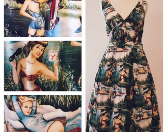 Shapely Eye-Poppin' Pin-up Picnic Frock