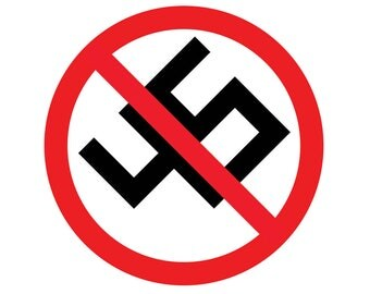 Anti-Donald Trump Anti-Nazi Vinyl Decal | Antifa | Anti Nazi | No Trump