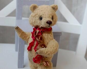 """Teddy bear miniature, Vincent, 6.29"""", 16 cm. artist bears, teddy bear toy, stuffed animals, ooak bear, vintage bear, artist mohair bears"""