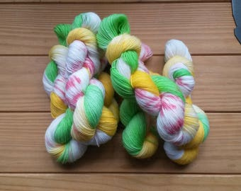 Happy. 4 ply sock yarn.  soft squishy wool