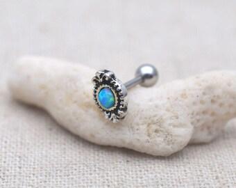tragus earrings,cartilage tragus,opal helix earring,girlfriend earring