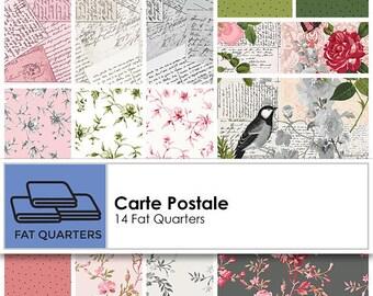 Carte Postale by Skipping Stones Studio for Clothworks Fat Quarter Bundle containing 14 fat quarters