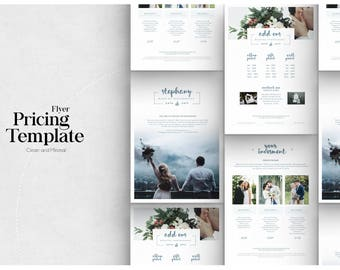 Pricing Guide Photoshop Template Design, Photography Price Sheet, Price List Template Design for Photographer - Photography Price List