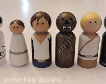 Star Wars Handpainted Peg Dolls - 6 Peg Doll Set