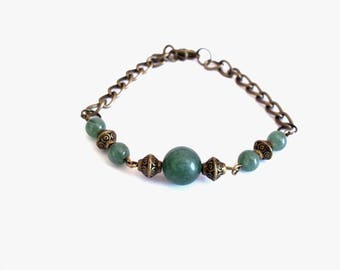 Vintage green jade bracelet
