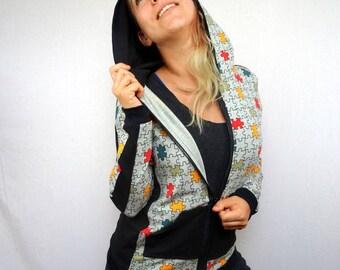 puzzle pattern jersey women Hoodie