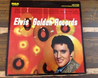 Elvis' Golden Records Victor LSP-1707(e) Vintage Vinyl Record LP 1958
