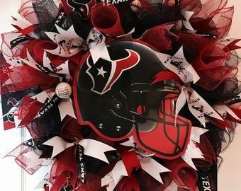 Sports Wreath, Football Wreath, Texans  Wreath