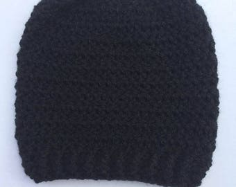 Chose Your Color/s Crochet Messy Bun Hat