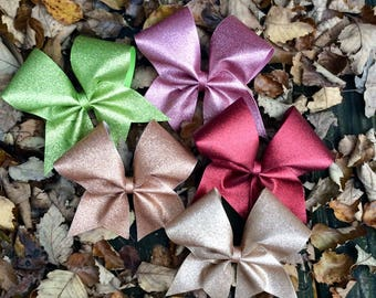 Glitter Cheer Bow/glitter bow/cheer bow/team bow/competition bow/softball bow/cheerleading bow