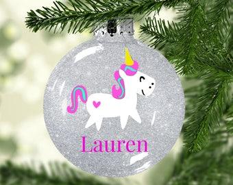 Unicorn christmas ornament | cartoon unicorn | personalized christmas ornament | Unicorn Gift | Unicorn Ornament