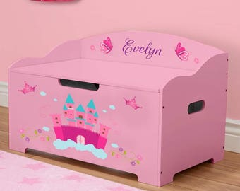 Personalized Dibsies Modern Expressions Princess Toy Box - Pink