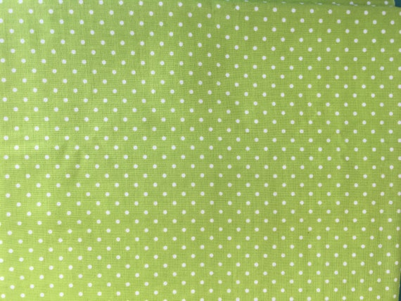 Riley Blake Basics Lime Green Swiss Dot over 1 yard Remnants