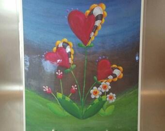 Love Blooms -print