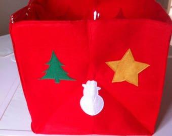 Christmas red gift bag