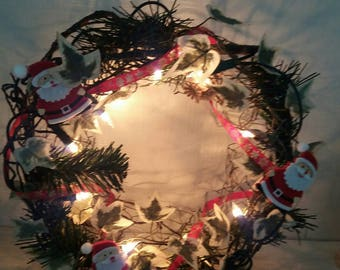 Christmas wreath, base light grilagee