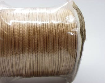 1 reel 100 m pink beige 1 mm cotton waxed cord