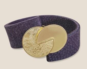 Protection Shir Lama alot Leather Bracelet - Jewish bracelet - Hebrew jewelry - 72 names of G-d bracelet