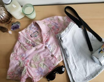 Piper Light Floral Button Down