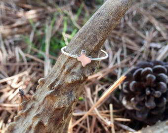 Sterling Silver Tiny Texas Ring
