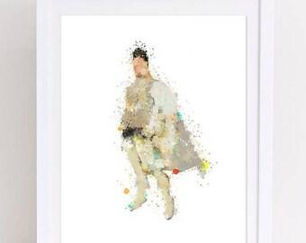 70%OFF Megamind Poster Watercolor Metro Man Dreamworks art disney art megamind printable poster watercolor disney metro man printable wall a