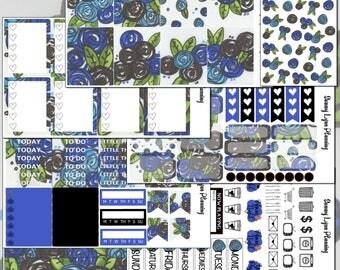 Black and Blue Roses Weekly Kit -EC Vertical/EC Horizontal/Happy Planner