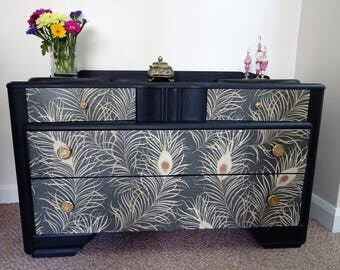 Stunning Glitzy 1950's Sideboard / Cabinet / Set of Drawers