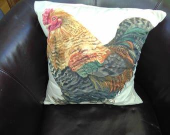 Cockerel Cushion Cover