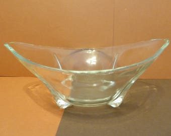 Clear Glass Candy / Serving Bowl, w / 4 Feet