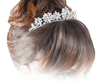 Wedding Tiara, Pearl Tiara, Bridal Tiara, Crystal Tiara, Wedding Headdress
