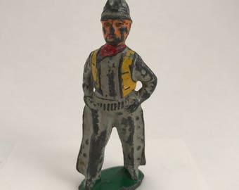 Toy Cowboy, Vintage Dimestore Toy Cowboy, 1930's/40's Diecast Lead Toy Figurine, Hollowcast Toy Cowboy, Barclay Manoil, American Metal Toy