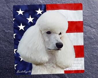 Poodle Patriotic Coasters, Poodle Coasters, Poodle Gift, Poodle Art, Poodle