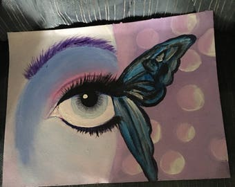 Unique acrylic butterfly painting wall art