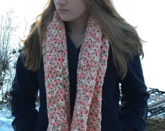 Crocheted Scarf - Colors of a Sunrise/Sherbet - Handmade - For Her