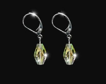 DONNATELLA bridal earrings, clear AB Swarovski crystals